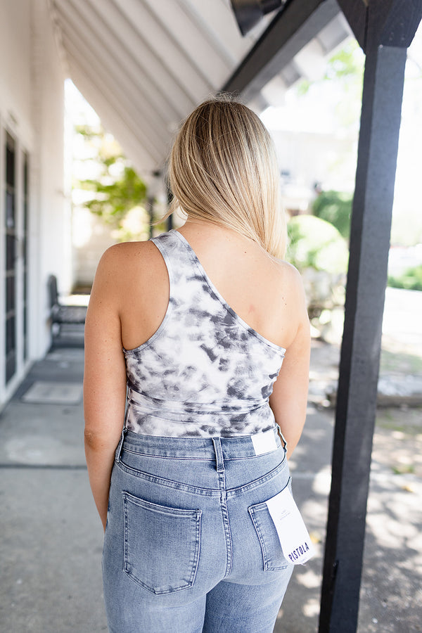 Blue Daze One Shoulder Bodysuit