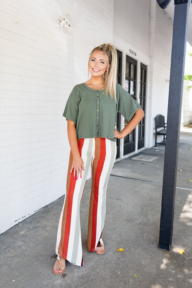 Rock Around Stripe Flare Pants