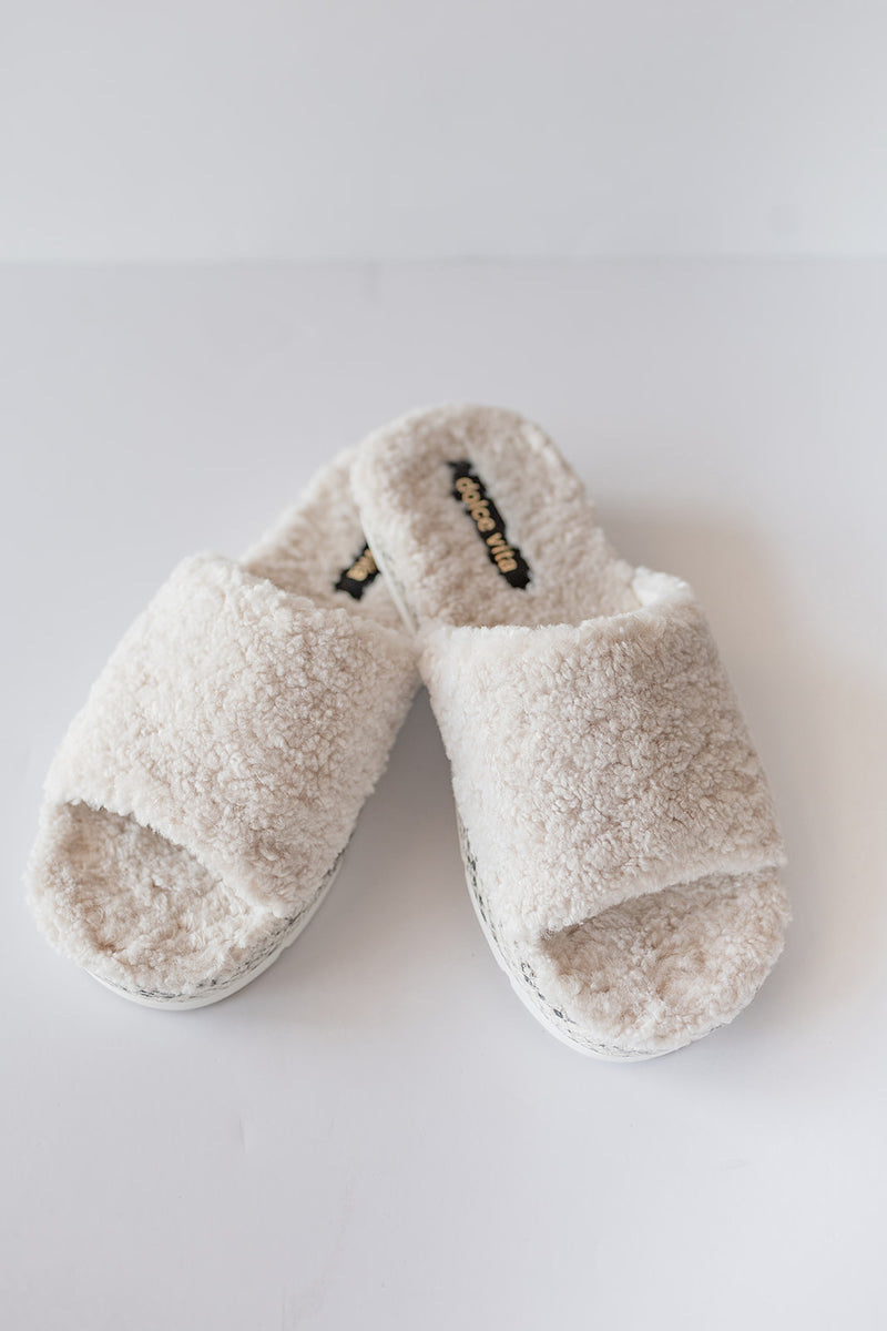 Dolce Vita Mochi Slippers in Off White