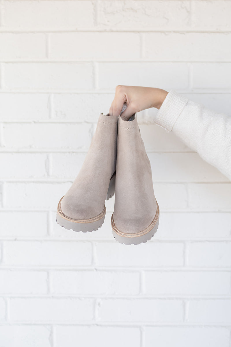 Dolce Vita Huey Booties in Almond