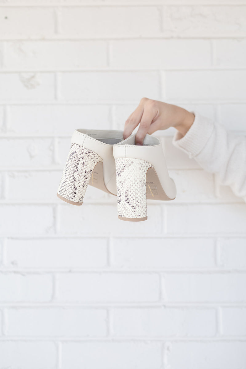 Dolce Vita Kirra Mules in Ivory Leather