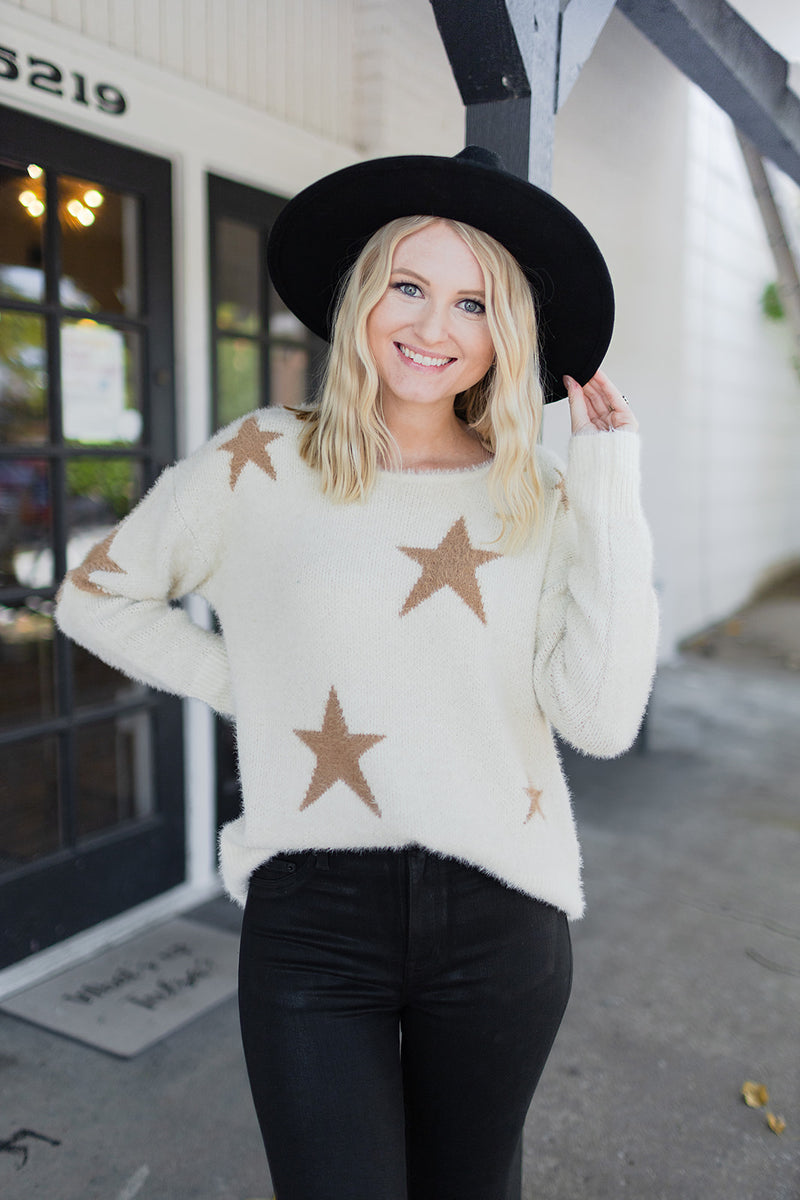 BuddyLove Spears Star Sweater - Ivory
