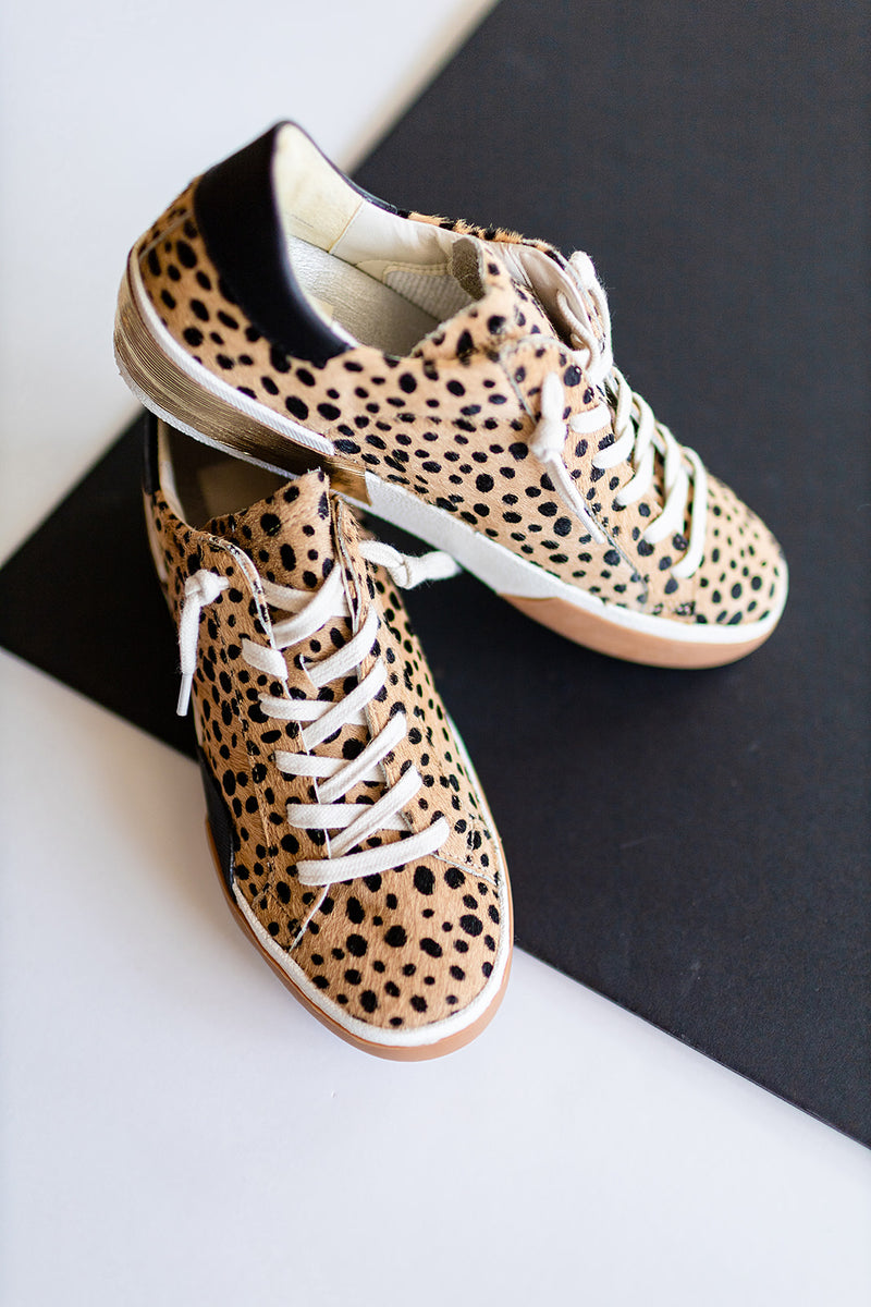Dolce Vita Zina Sneakers in Leopard Calf Hair