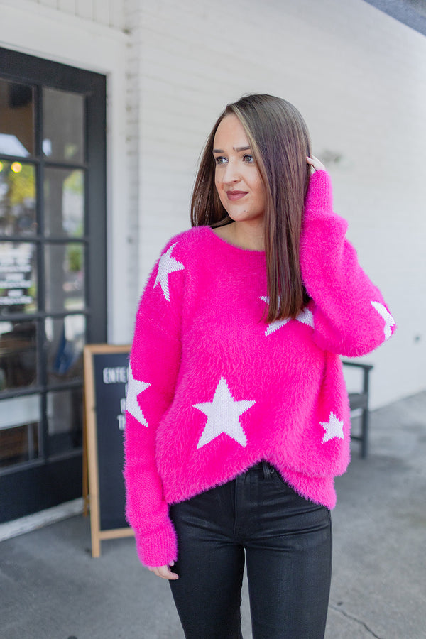 BuddyLove Spears Star Sweater - Pink