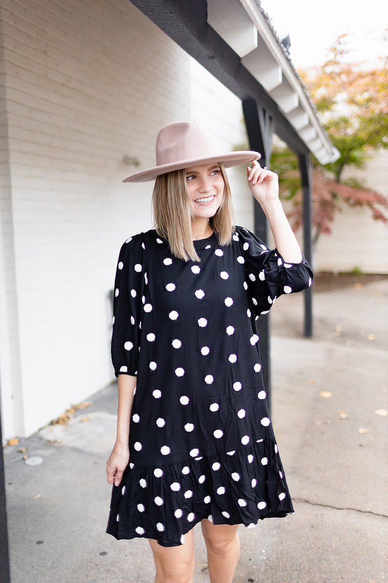 Dotted Up Dress - Black
