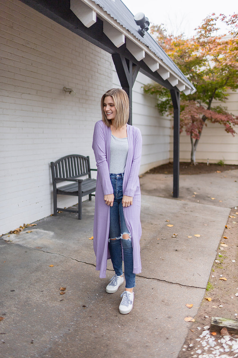 With Me Cardigan - Lilac