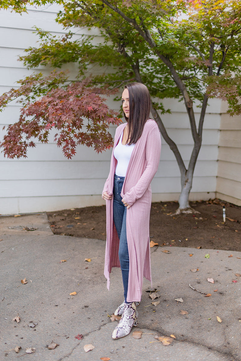 With Me Cardigan - Rose Pink