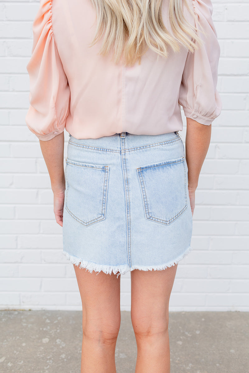 BuddyLove Sharon Denim Skirt - Light Wash
