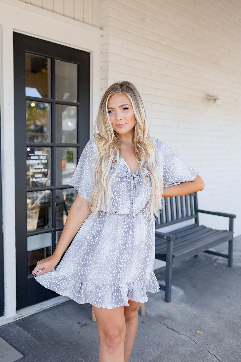 BuddyLove Trixy Ruffle Dress - Doe