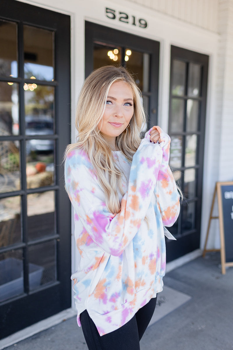 I Want Candy Tie Dye Pullover