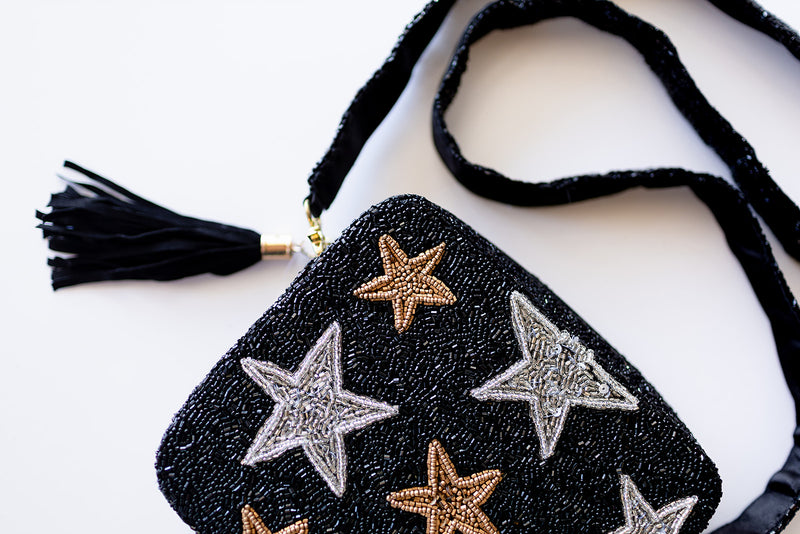 Beaded Stars Box Bag