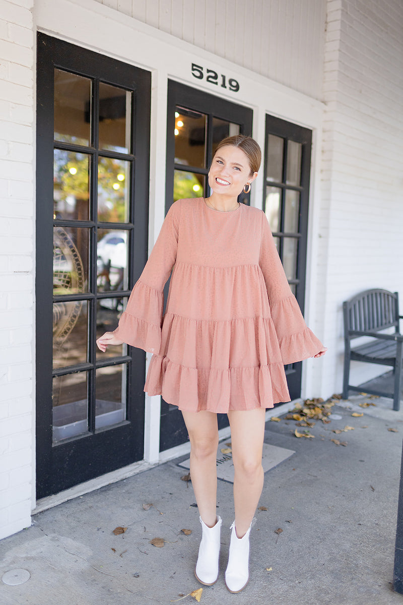 Wild About You Dress - Dusty Coral