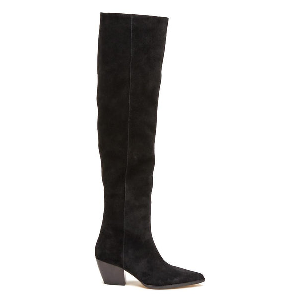 Matisse Sky High Suede Boot - Black