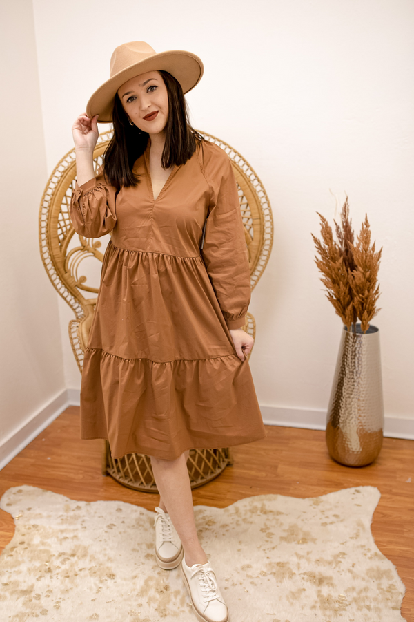 Morning Market Midi Dress - Dark Mocha