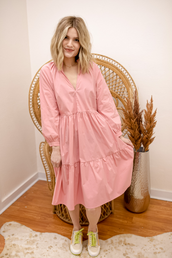 Morning Market Midi Dress - Rose