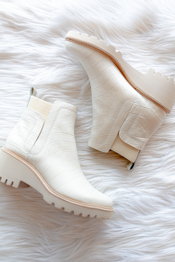 Dolce Vita Huey Booties in Ivory