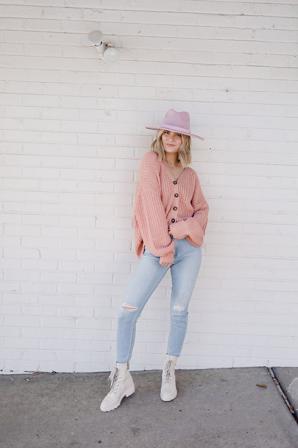New Me Cardigan - Blush