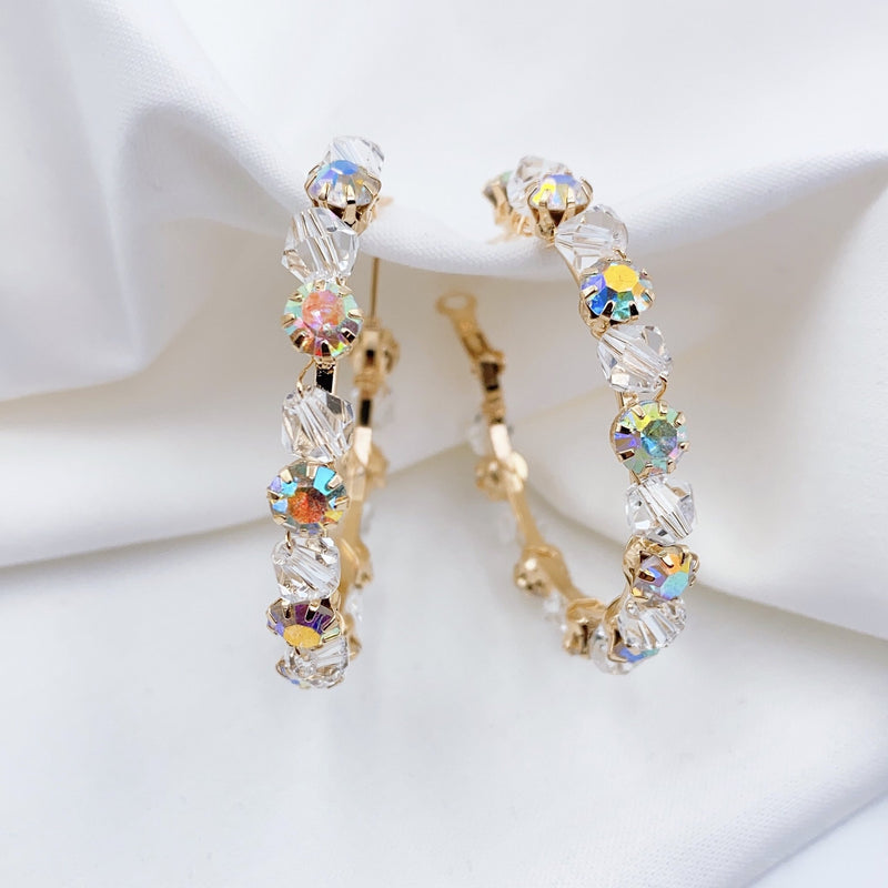 Treasure Jewels Crystal Hoop Earring