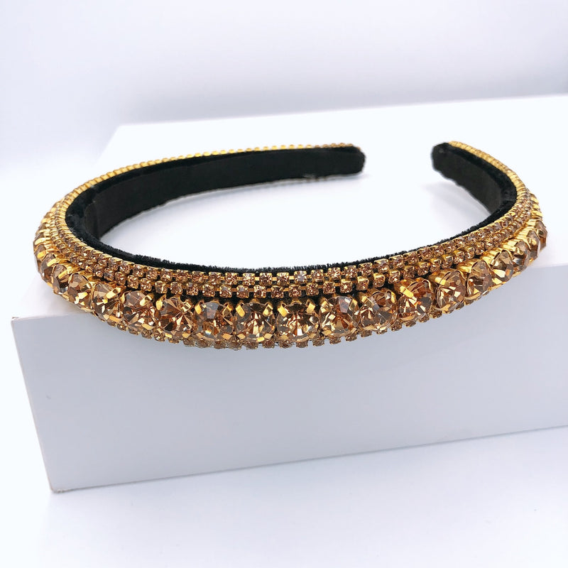 Treasure Jewels Crystal Thin Nude Headband