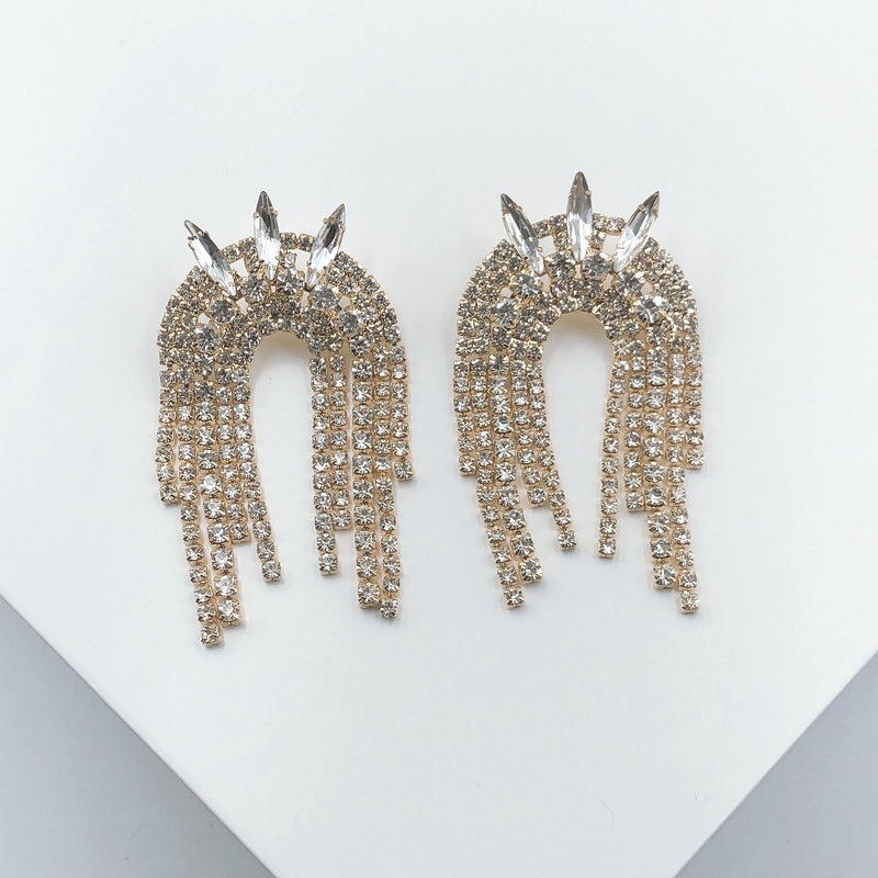 Treasure Jewels Spike Dangling Crystal Earring