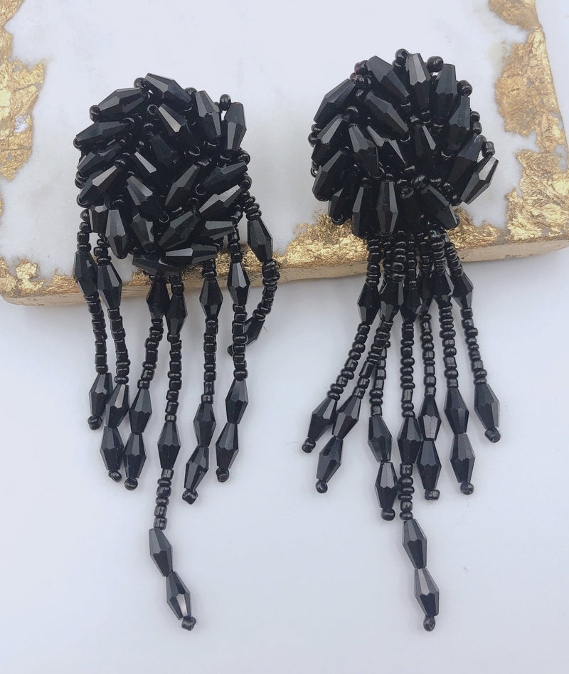 Treasure Jewels Avery Black Earring