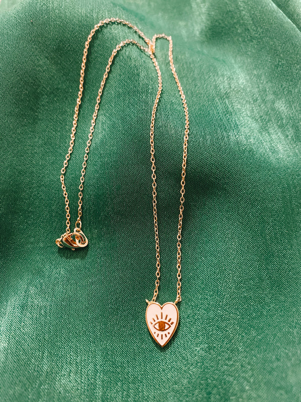 Heart Eye Necklace