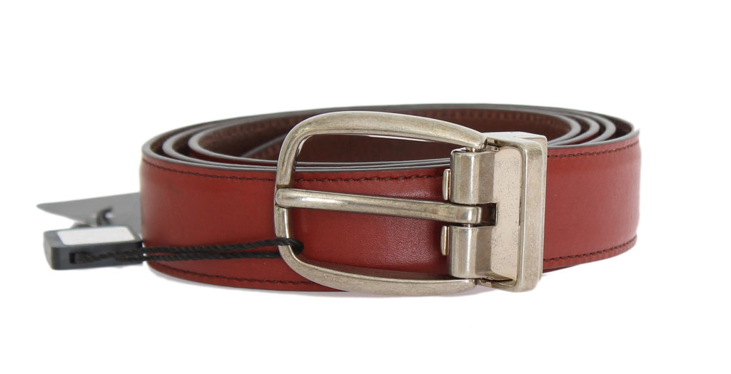 Red Leather Gold Buckle Belt (Copy)