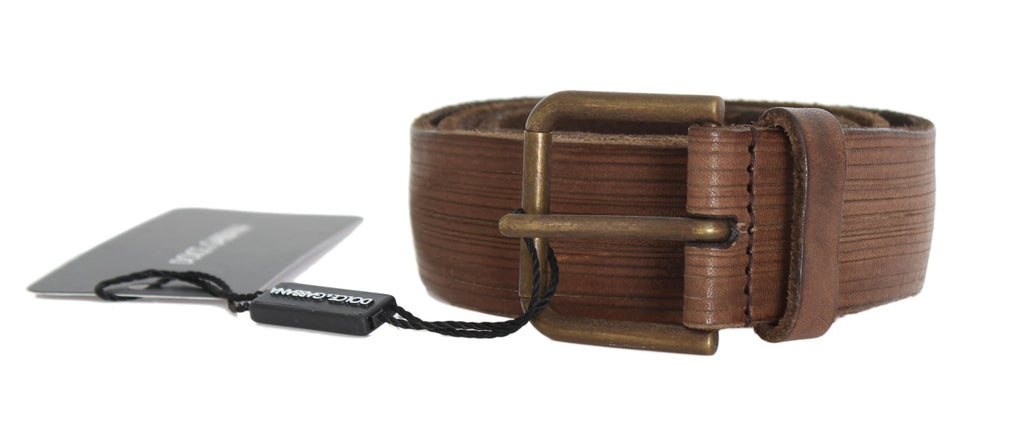 Brown Leather Gold Buckle Belt (Copy)