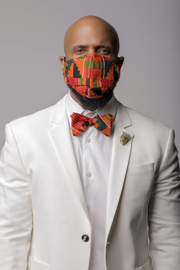 Kente Print Face Mask Set