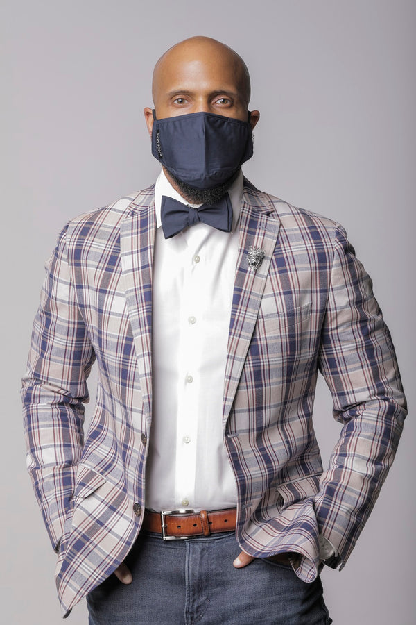 SONSON Navy Anti Virus Mask and Bow Tie Set