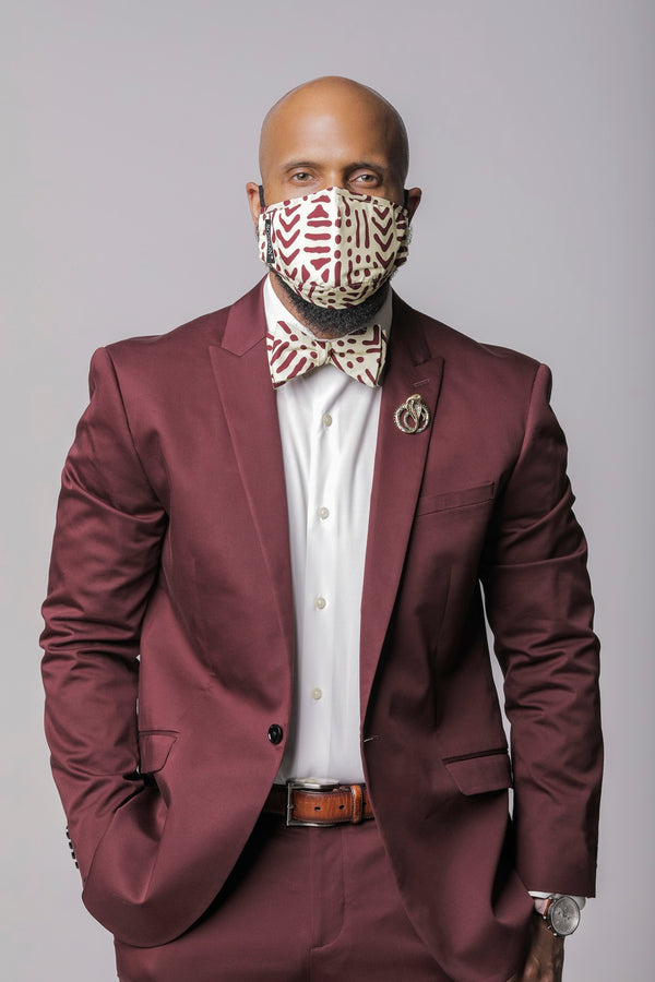 Bamana Mask and Bow Tie Set
