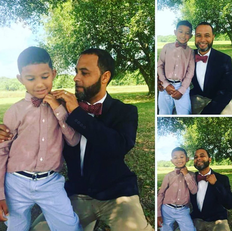 Gradney's Father and Son photo wearing  SONSON Bow Tie