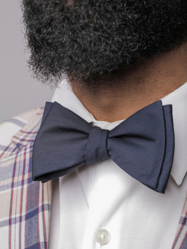 Navy Cotton Bow Tie - SONSON®