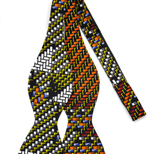 Honeycomb African Print Bow Tie