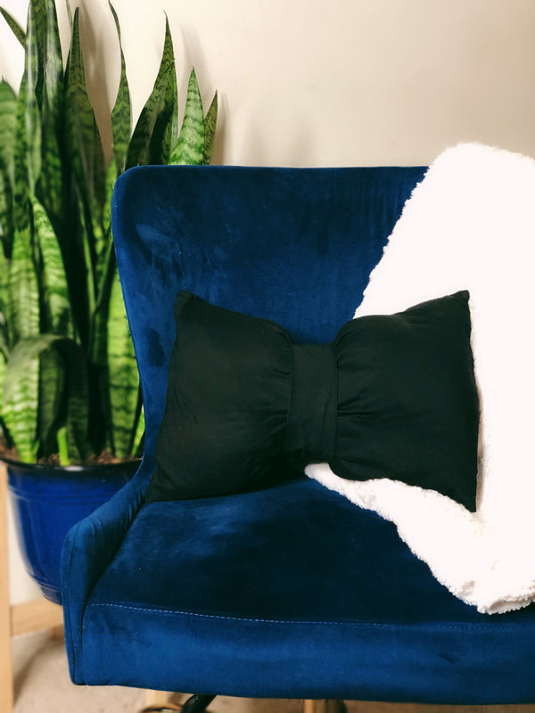 Set of 2 Mia Noir Bow Tie Lumbar Pillow - SONSON®