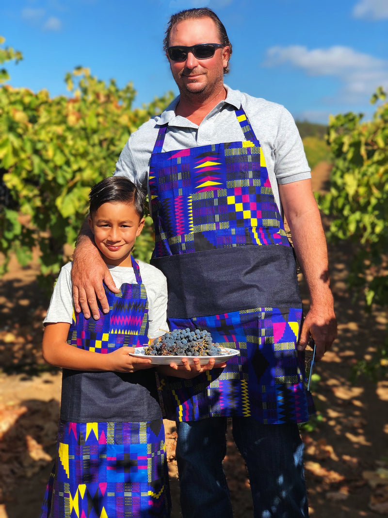 Imperial Plum Big Chef and Little Chef Matching Aprons - SONSON®