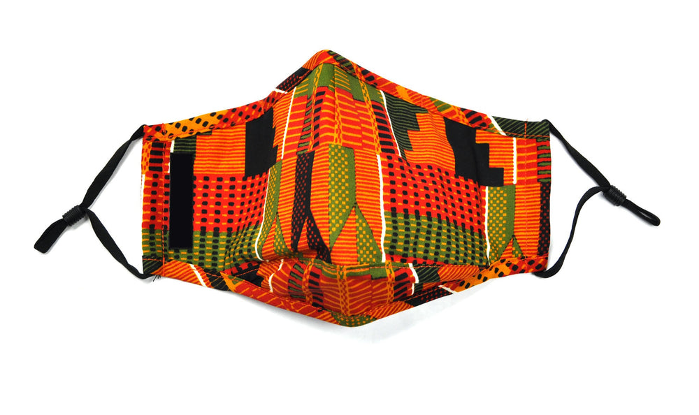 Kente Fashion Face Cover with Adjustable Nose Bridge - SONSON