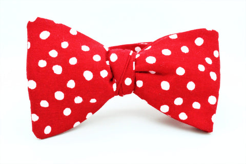 Red and White Dots Bow Tie - SONSON