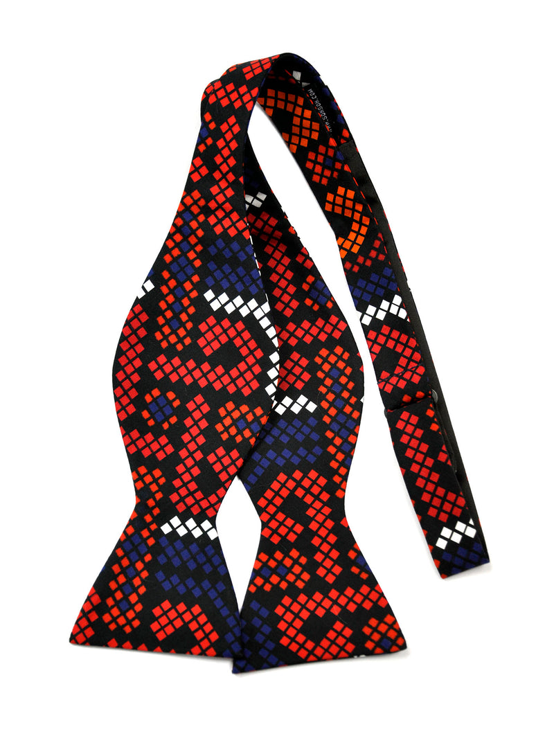 Red and Blue African Print Bow Tie - SONSON®