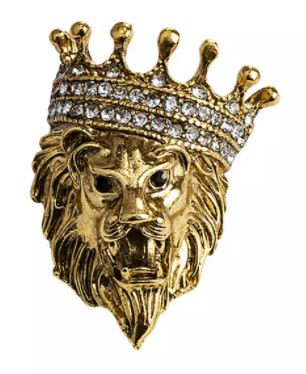 Gold Royal Lion Crown Pin - SONSON®