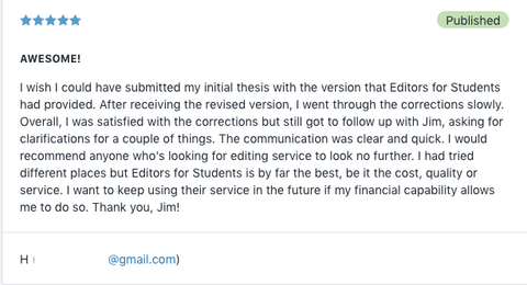 Thesis / Dissertation Editing Service Review 3