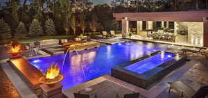 Florida-sunseeker.com Color LED swimming pool and spa lights upgrade kits intellibrite colorlogic pentair hayward pool baron