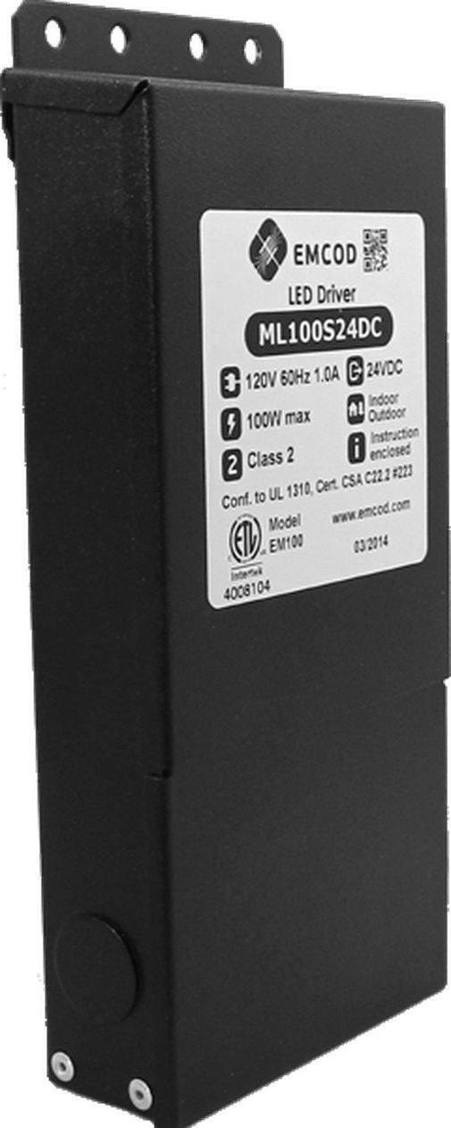 Emcod ML100S12AC 12VAC transformer 120VAC input 100W max output Hardware > Power & Electrical Supplies > Voltage Transformers & Regulators EMCOD