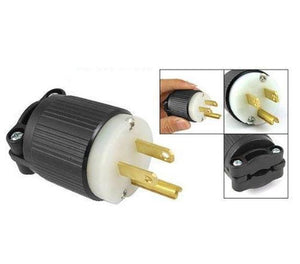 Grip Black-White 15 Amp 125 Volt Industrial Grade Plug Straight Blade Grounding Nylon Hardware > Power & Electrical Supplies > Wire Terminals & Connectors Hubbell