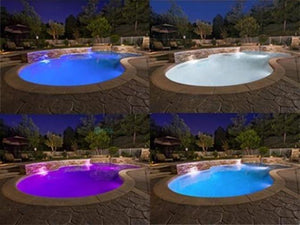 Hayward® Duralite® 16 Color LED White Rim Pool Light 100 Foot cord Home & Garden > Pool & Spa Hayward Industrial Products
