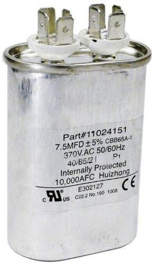 Hayward® HPX11024151 7.5 7 1/2 mfd Uf Fan Run Capacitor Heatpro® Heat Pump Electronics > Circuit Boards & Components > Passive Circuit Components > Capacitors Hayward Industrial Products
