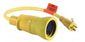 Hubbell HBL61CM54 Adapter 50A 125V 2P 3W Female w 15A 125V 2P 3W Yellow Hardware > Power & Electrical Supplies Hubbell
