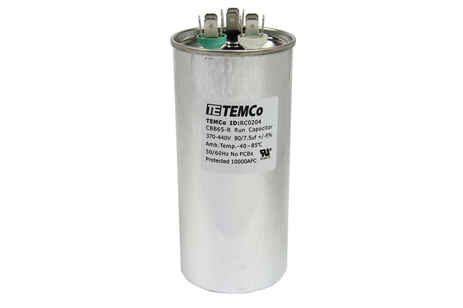 ICP Heil Tempstar Air Conditioner Dual Run Capacitor 80/7.5 uf 370 volt 1172296 Electronics > Circuit Boards & Components > Passive Circuit Components > Capacitors Universal