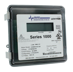 Leviton 1R480-11 Series 1000, Dual Element Meter, 277/480V, 2PH, 3W, 100:0.1A Hardware > Power & Electrical Supplies Leviton