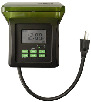 Outdoor 7-Day Heavy Duty Digital Outlet Timer Home & Garden > Pool & Spa Woods